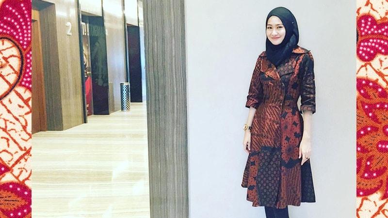 model gamis batik lengan panjang ragam muslim
