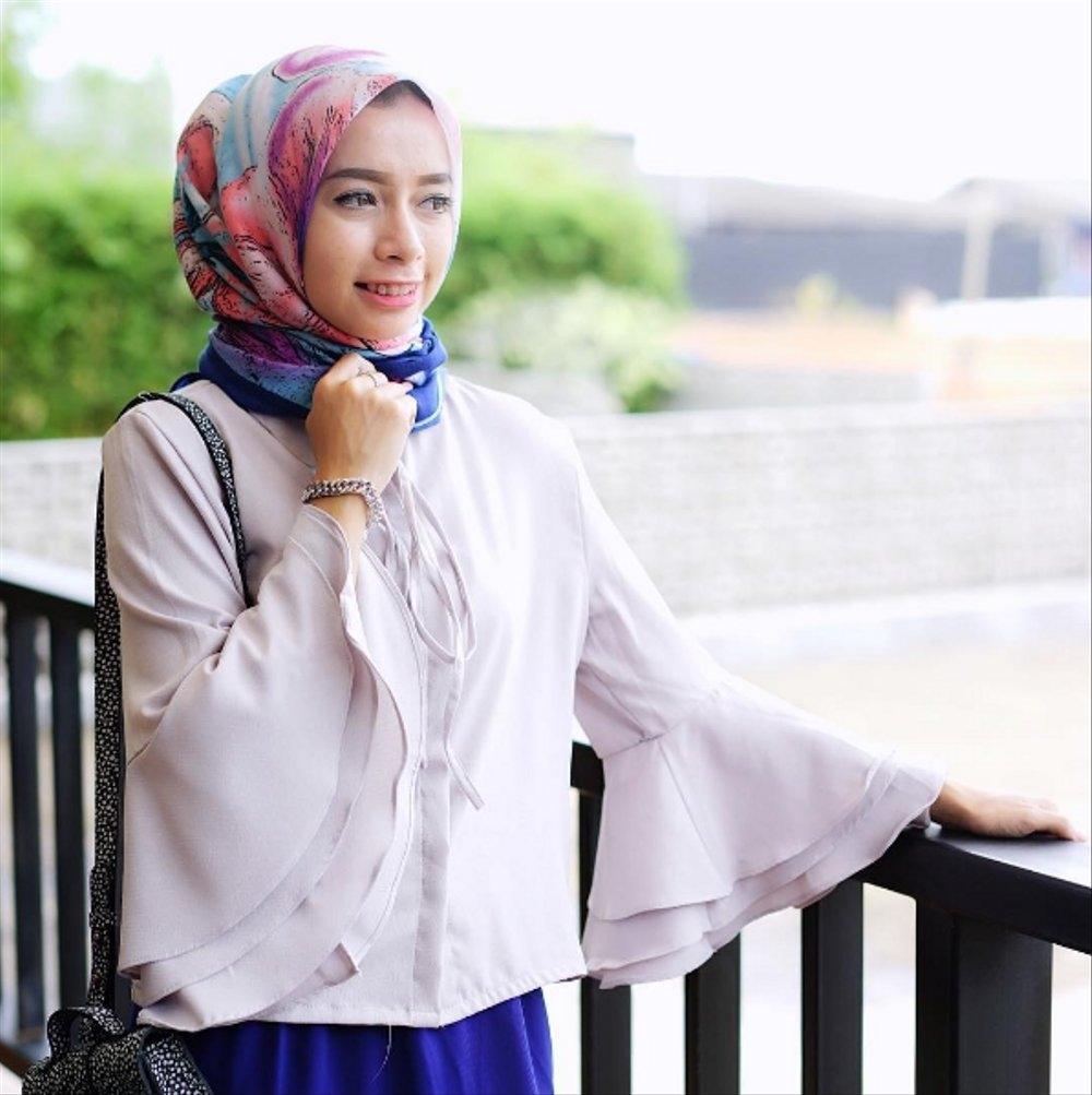 ootd kondangan hijab tumblr jilbab gucci