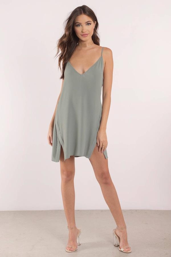 sexy olive green shift dress casual sundress beautiful