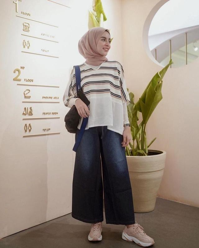5 inspirasi padu padan celana kulot ala hijaber super