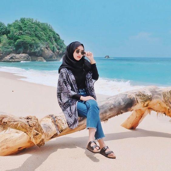 hijab casual ootd hijab ke pantai jilbab gallery