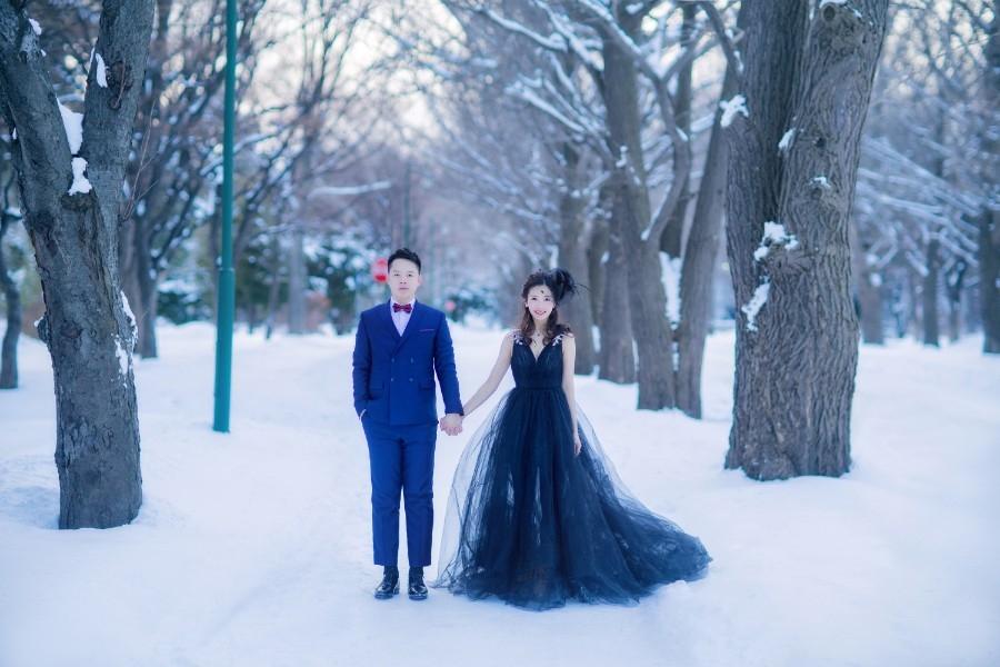 hokkaido outdoor pre wedding photoshoot during winter wu