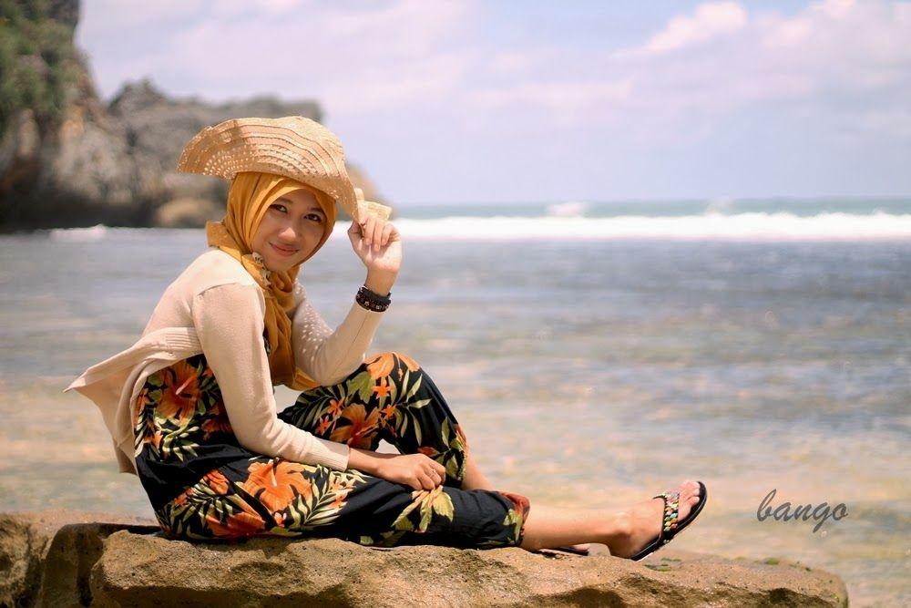 imaji artwork hijab style beach photoshoot pantai