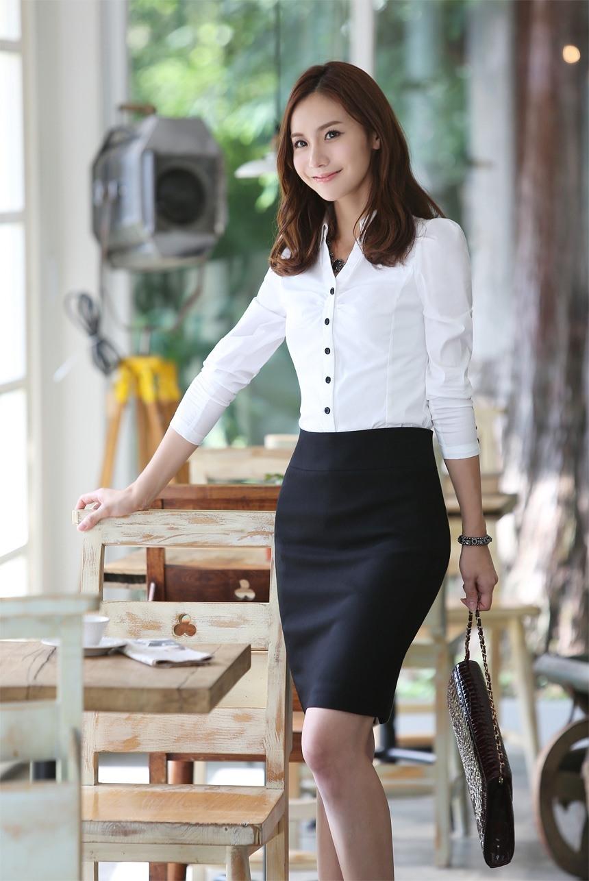 kemeja kerja kantor wanita import putih model terbaru