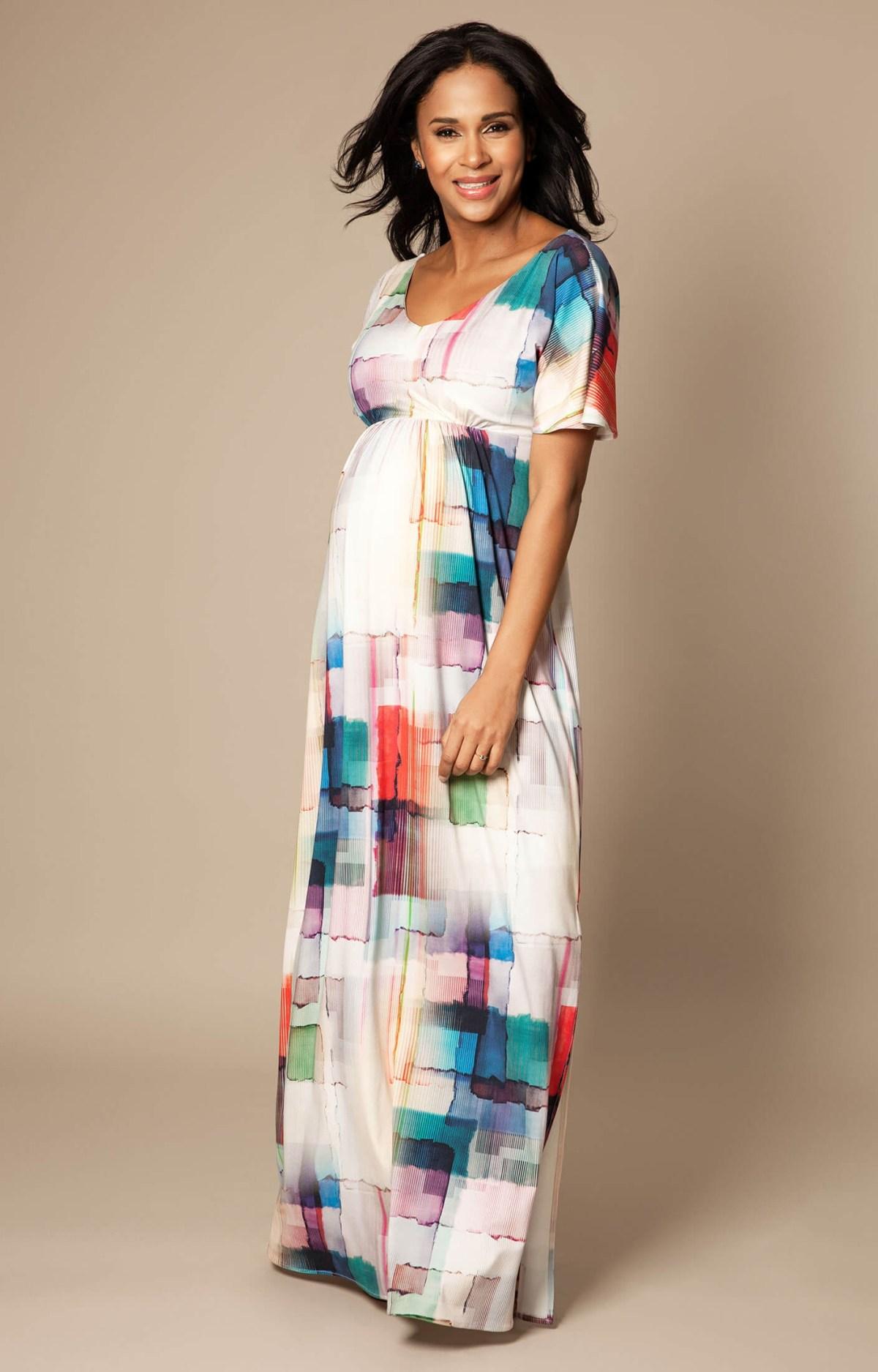 kimono maxi maternity dress colour palette maternity
