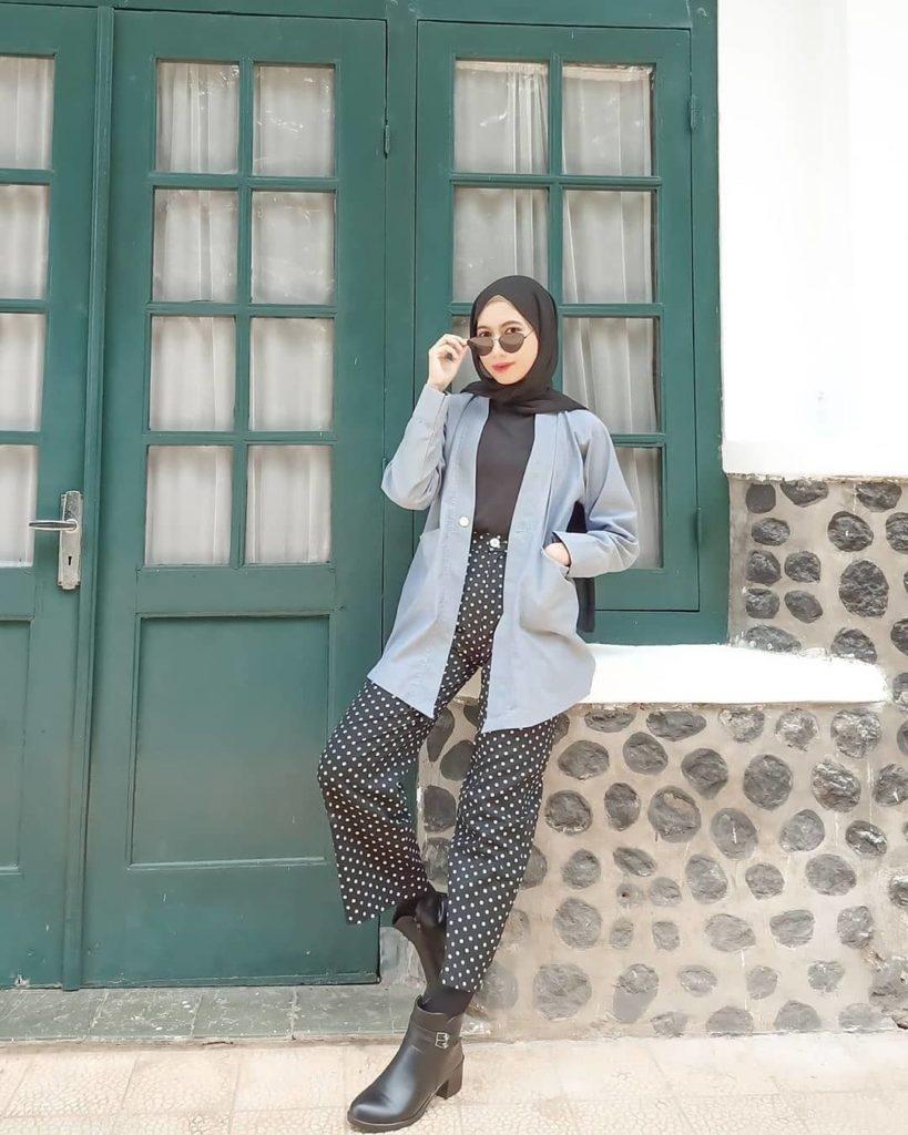 ootd hijab kulot cocok untuk kamu yang malas pakai rok 1