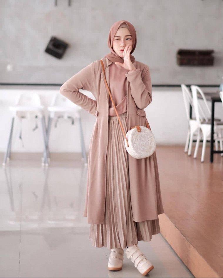 ootd hijab rok yang nggak ribet dan kekinian bagi fashion