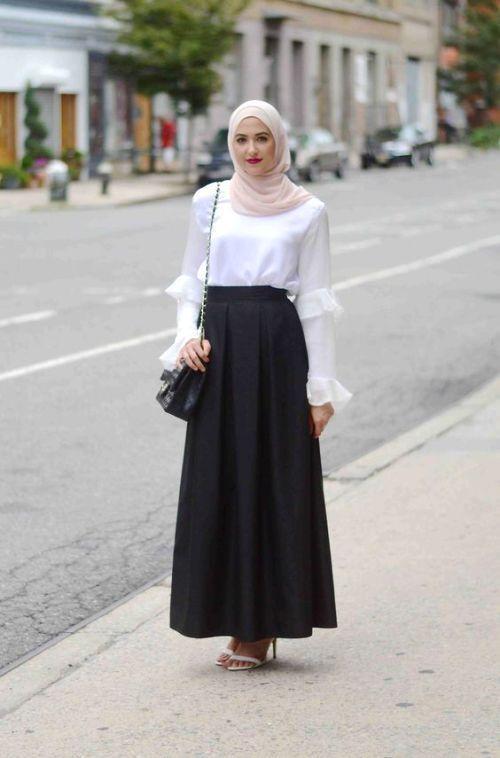 paling inspiratif ootd hijab dengan rok hitam jalen blogs 1