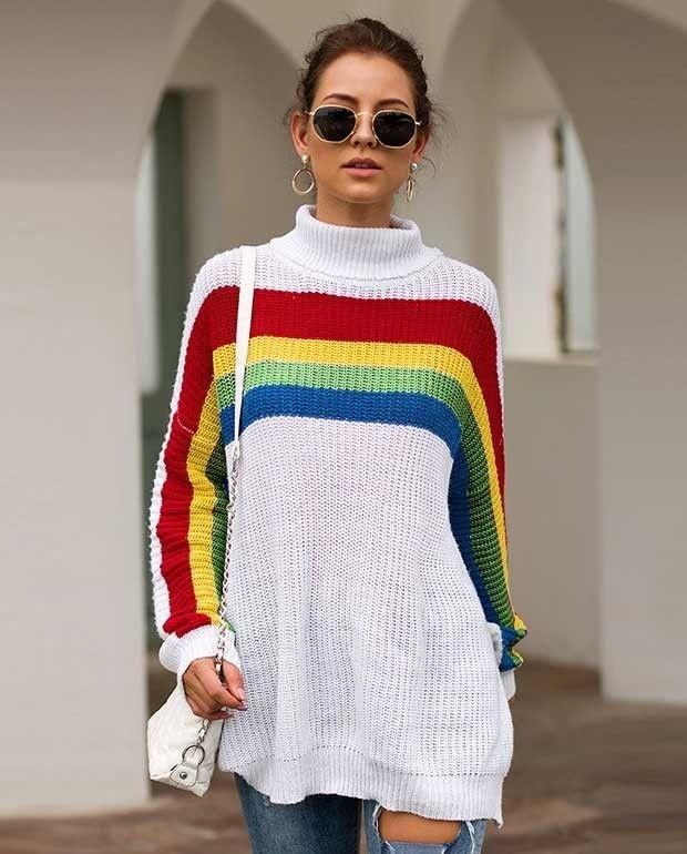 pin seamido on sweater ladies turtleneck sweaters