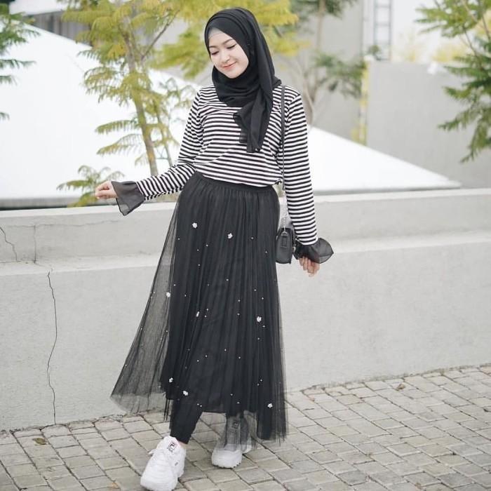 style ootd hijab rok tutu