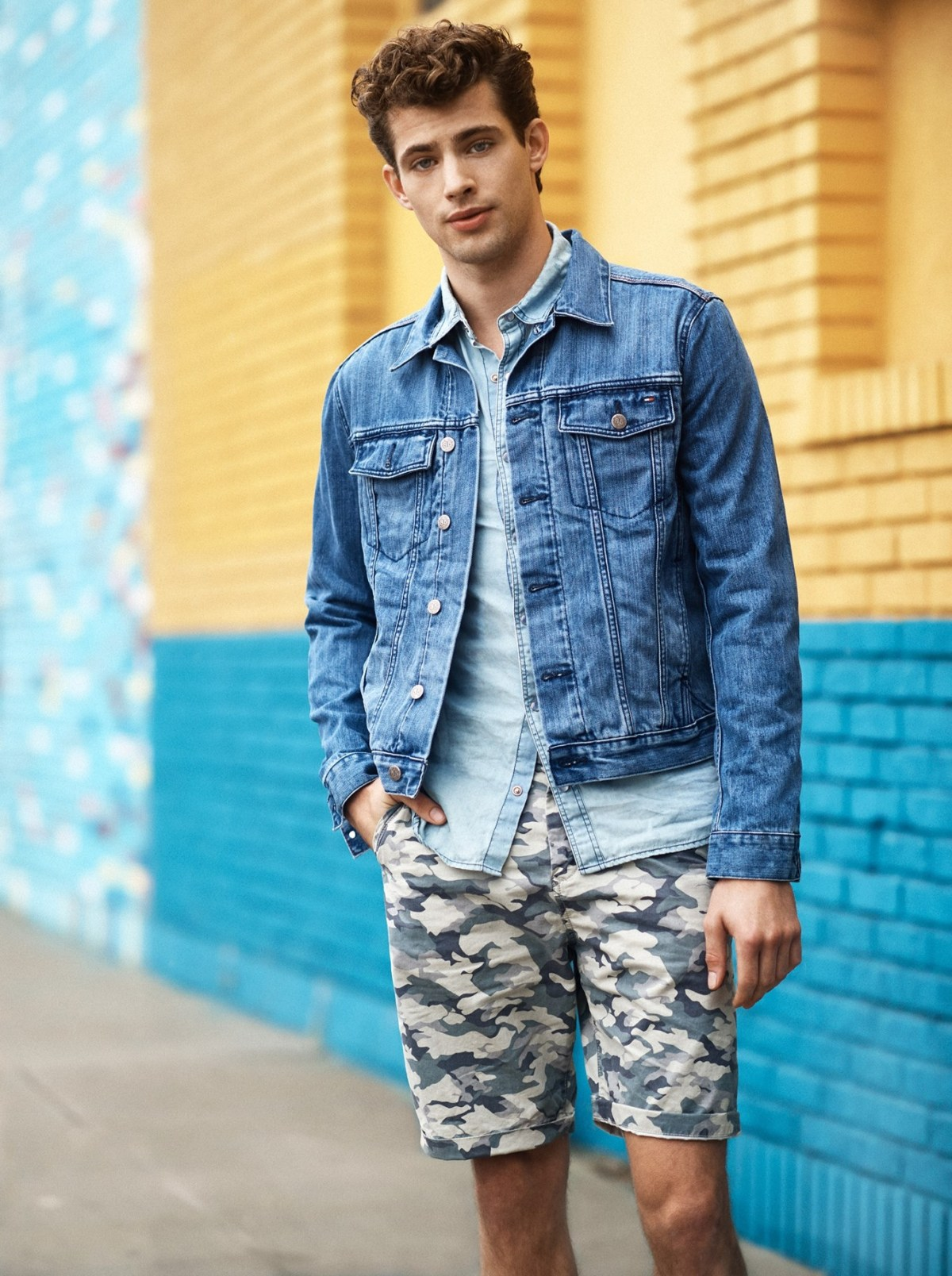 tommy hilfiger visits los angeles with casual mens denim