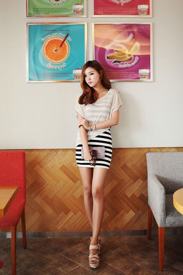 diagonal knit crop top fashion korean fashion ulzzang