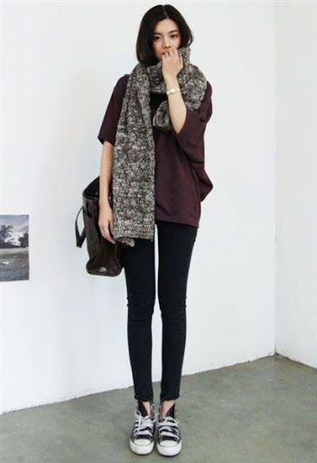 gaya fashion wanita korea desain casual elegan terbaru