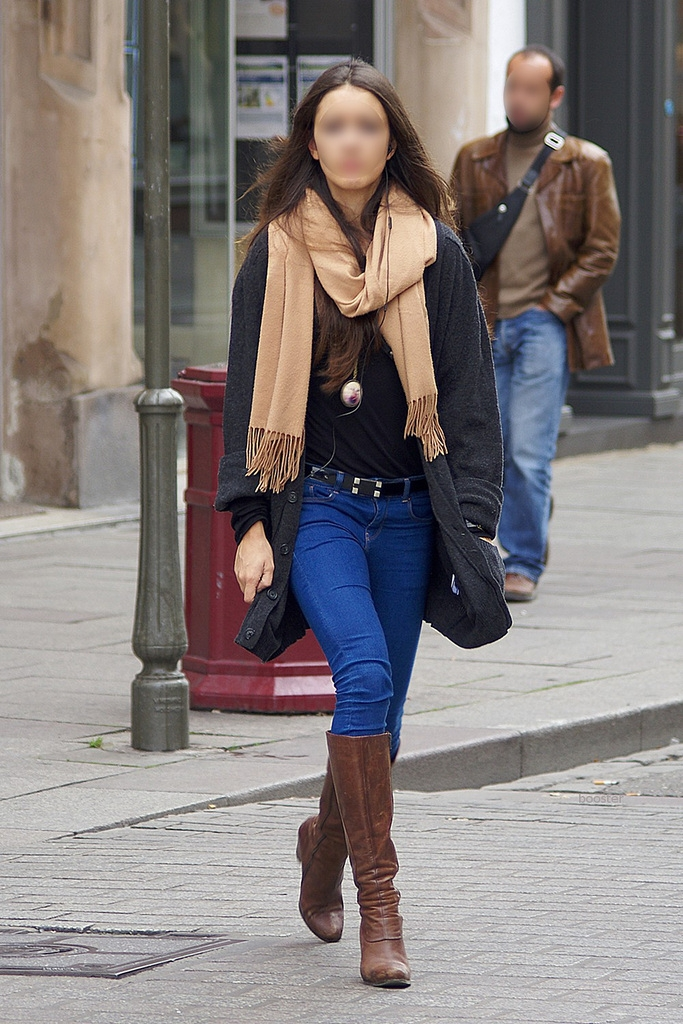 jeans and boots streetshots lookbook chictopia boots
