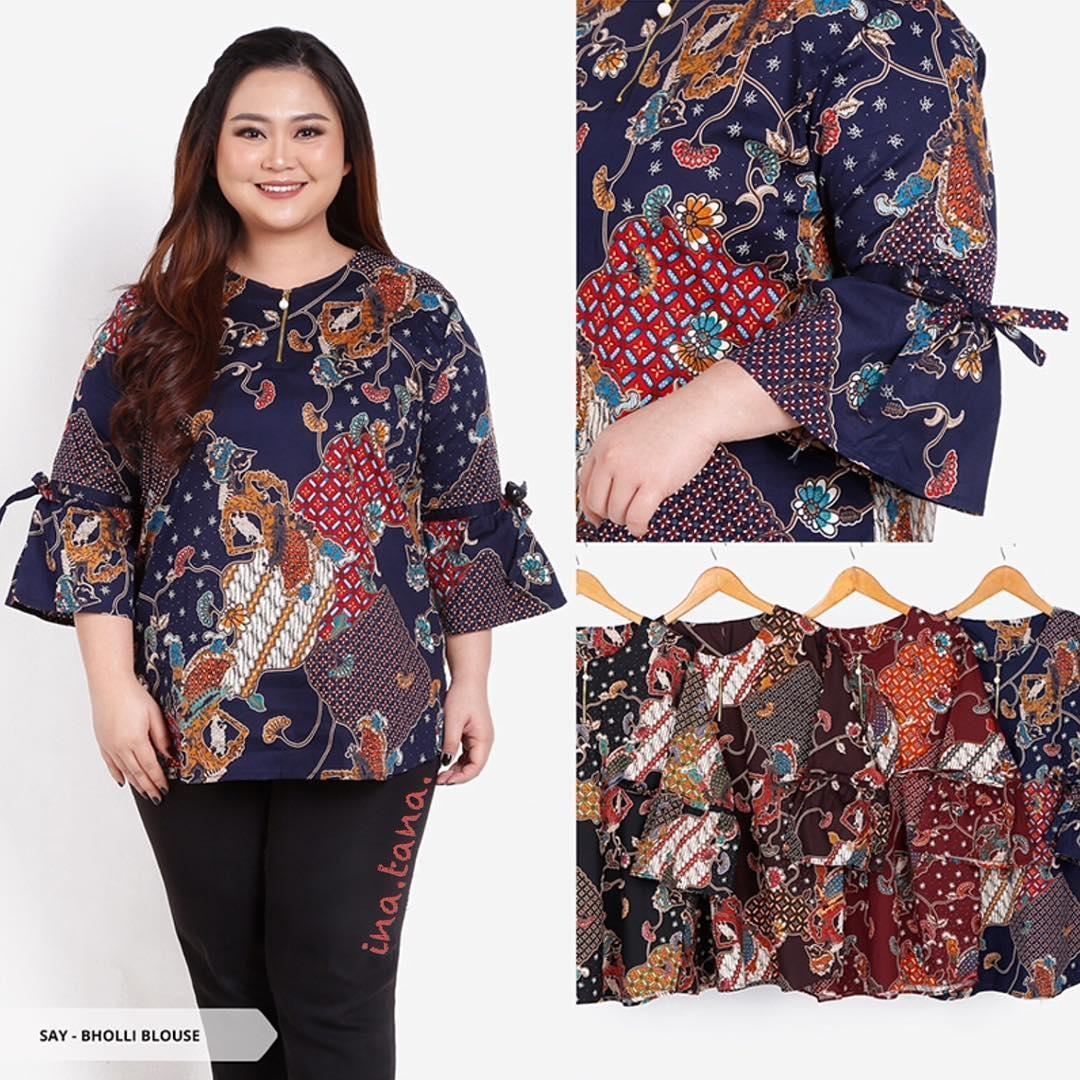 model baju batik wanita gemuk untuk pesta ananta batik