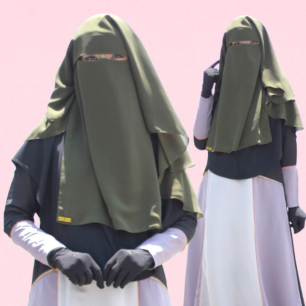 niqab khadeeja in olive aurahanan hijab niqab malaysia
