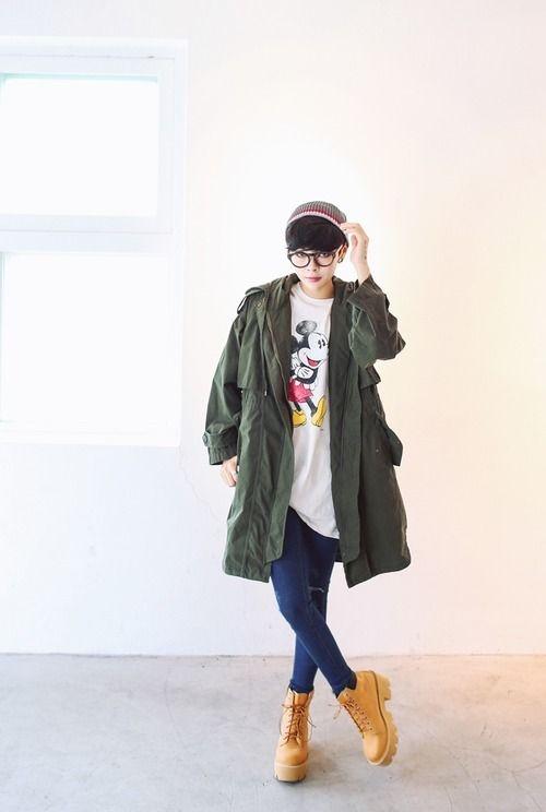 pin seah hong on fashion fun tomboy fashion korean