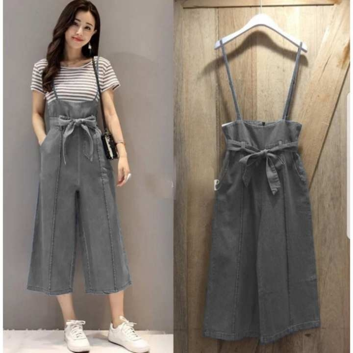 shopping yukz jumpsuit wanita basic tanpa kaos