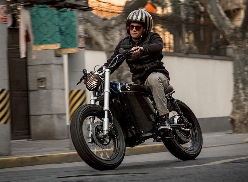 street tracker electric custom motorcycle shanghai customs
