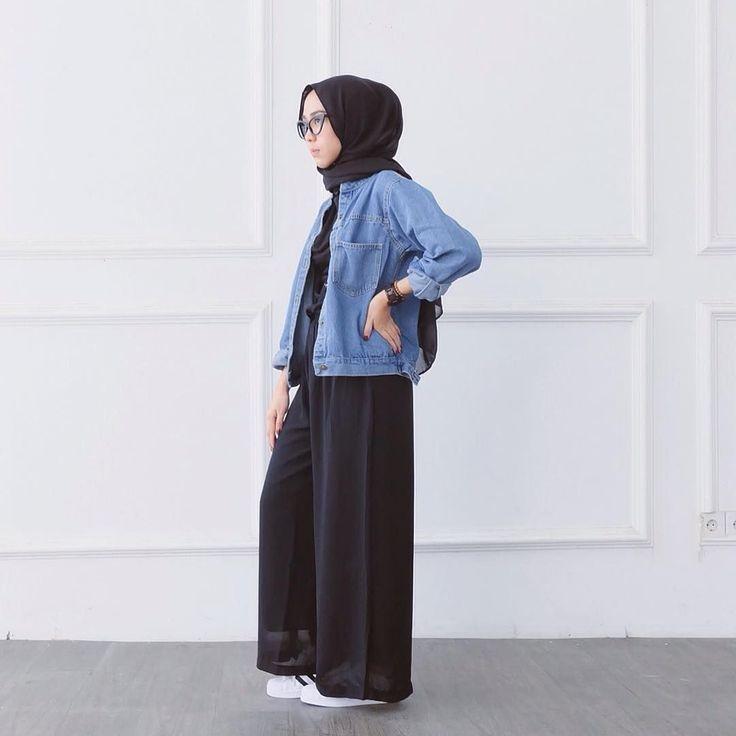 style ootd hijab remaja in 2020 hijab style casual