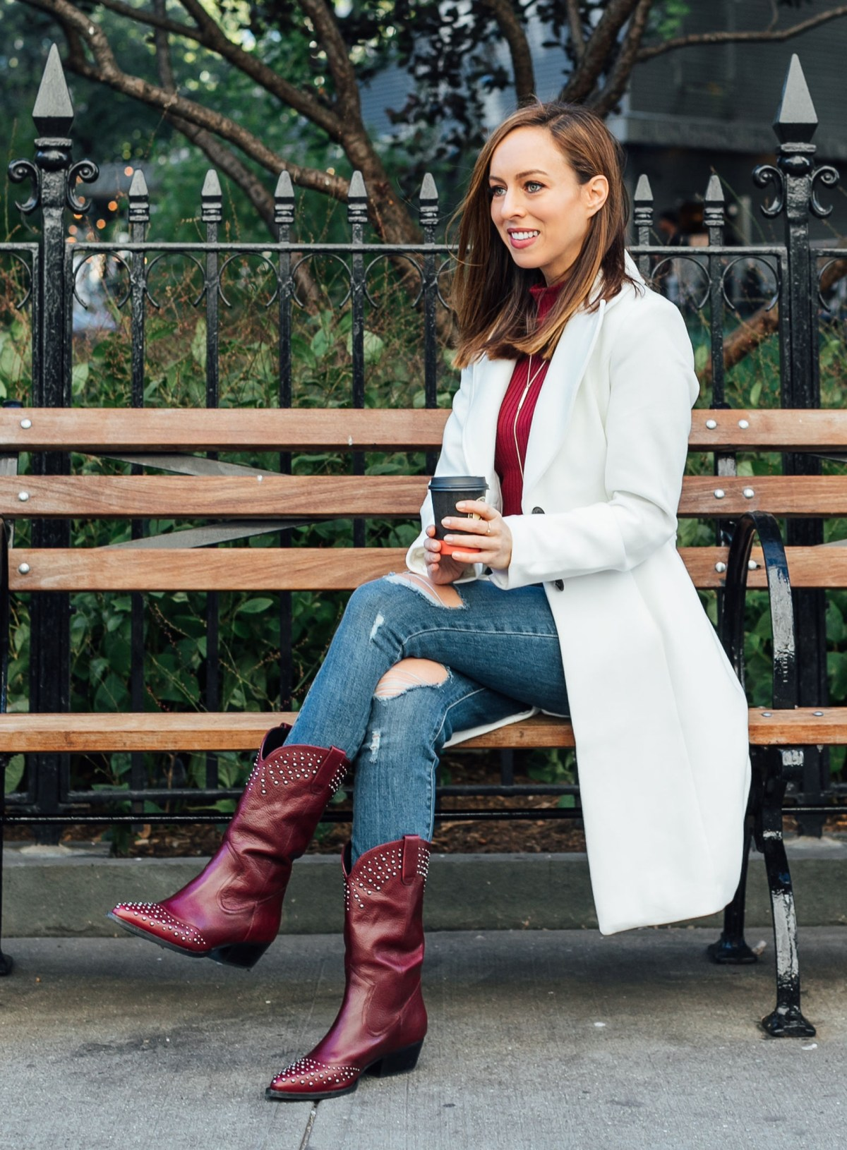 sydne style shows how to wear cowboy boots with jeans and