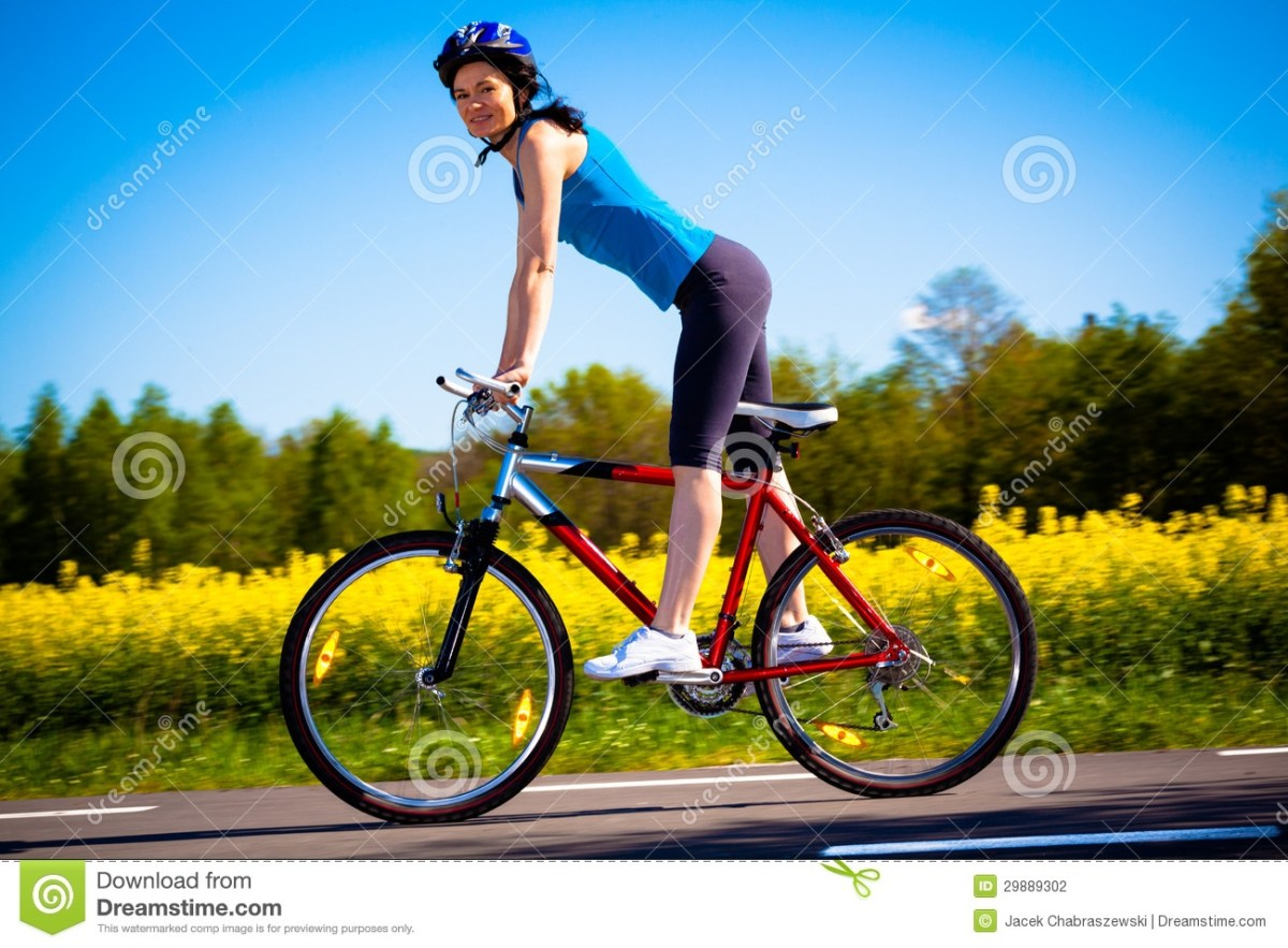 woman cycling stock photography image 29889302