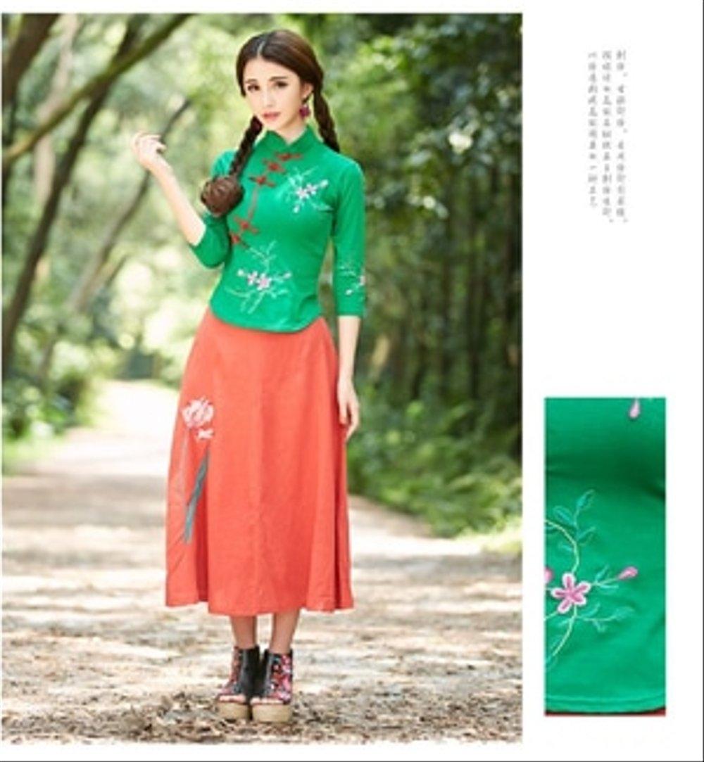 34 inspirasi terpopuler baju tunik warna hijau