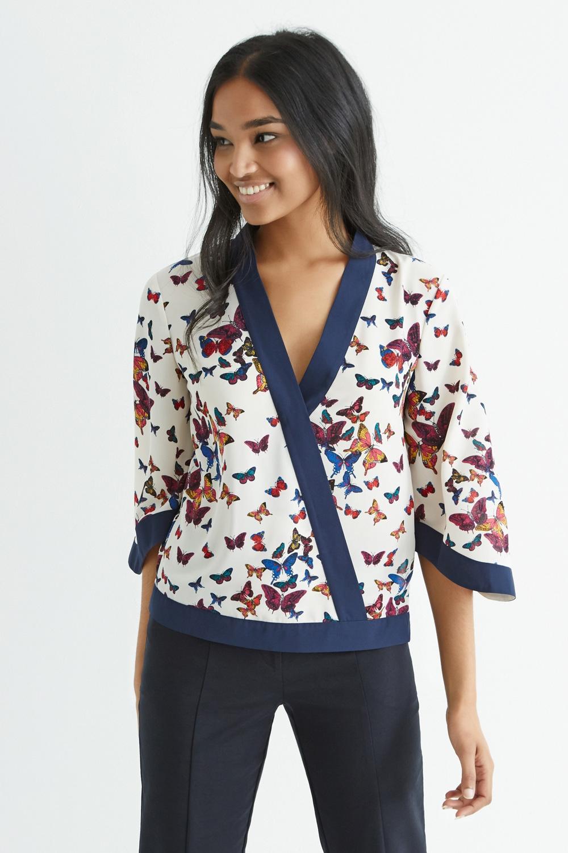 add butterfly kimono inspired wrap top broke and beautiful