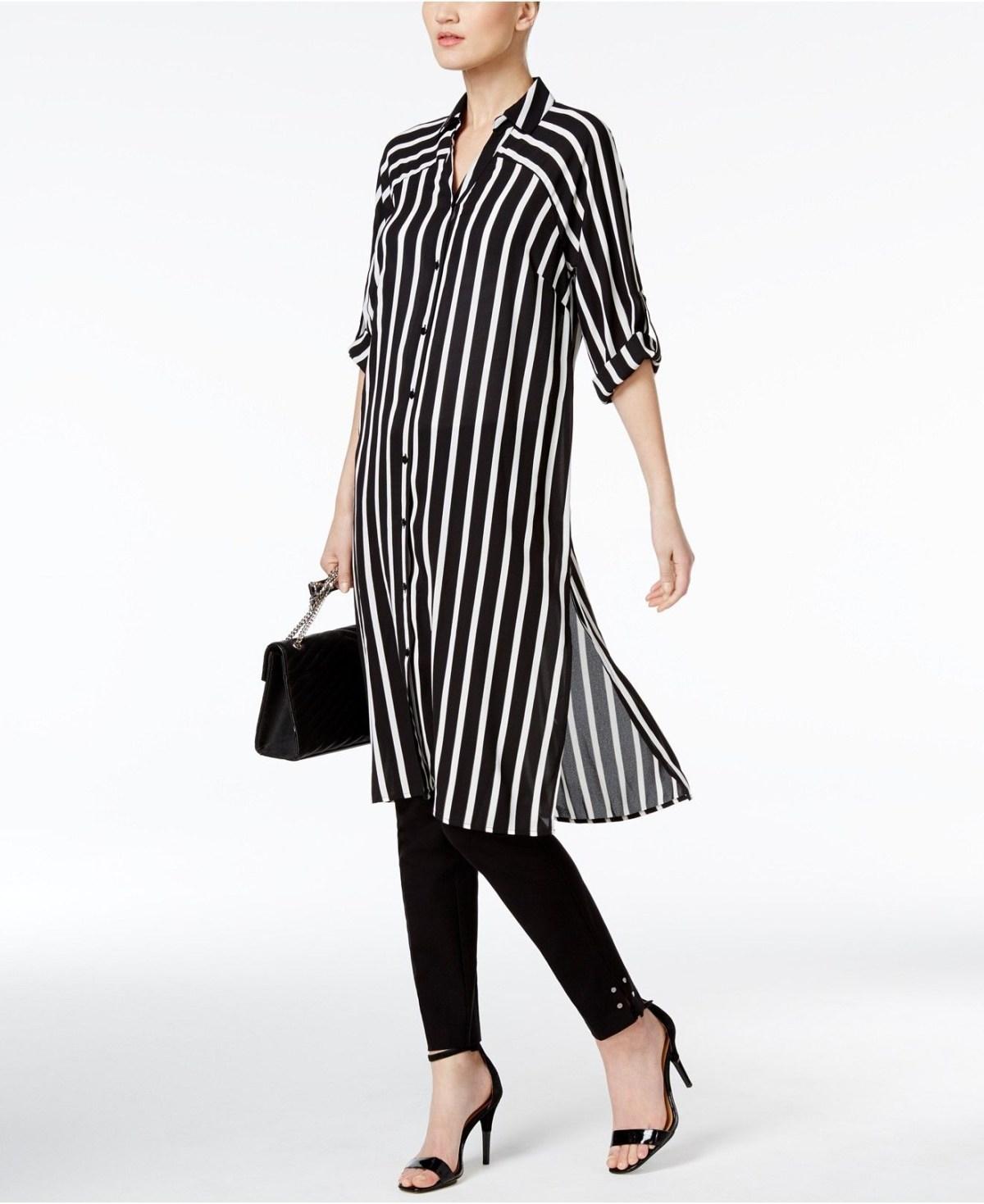 alfani prima striped tunic shirt fashion stripes