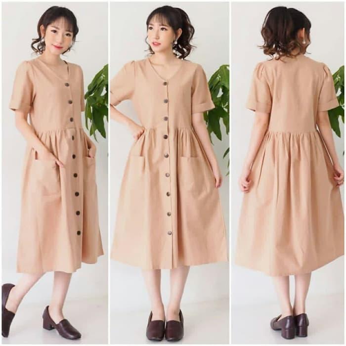 baju dress pendek wanita cantik simple model terbaru ryn