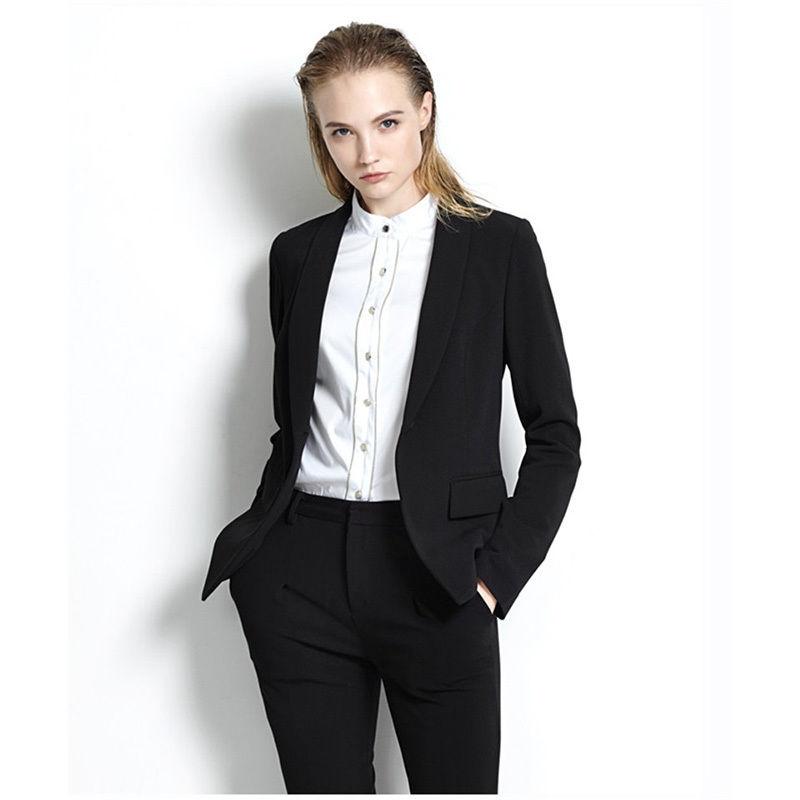 bespoke black women business suits formal ladies trouser
