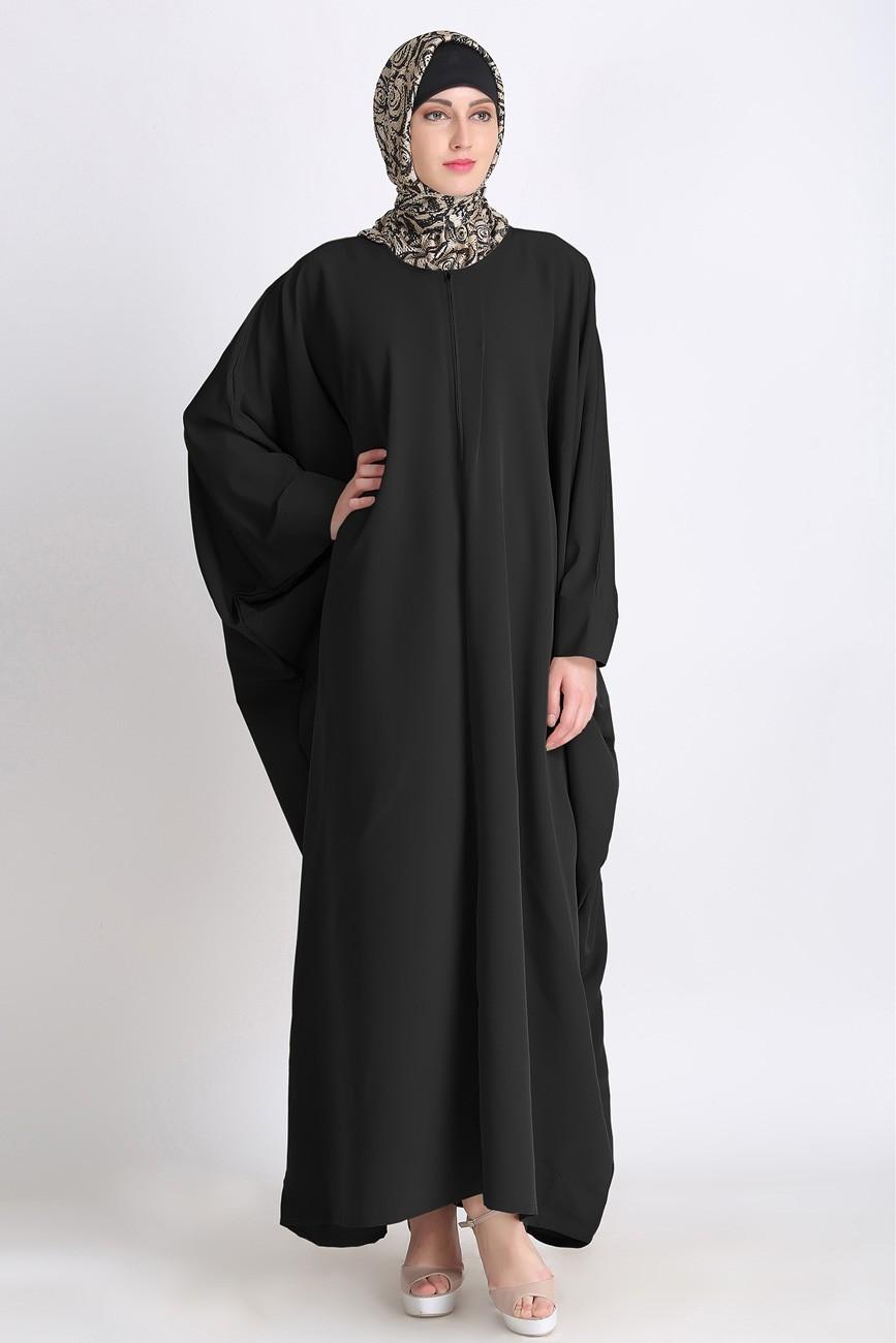 black kimono abaya kaftan islamic clothing abayas