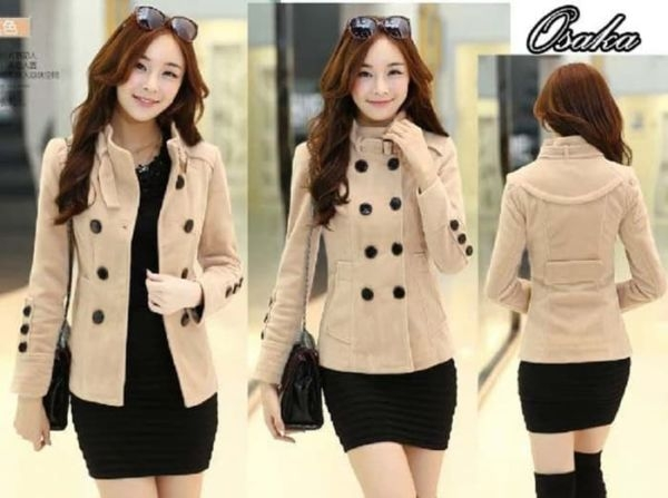 blazer wanita cantik modern ala coat fashion korea ryn
