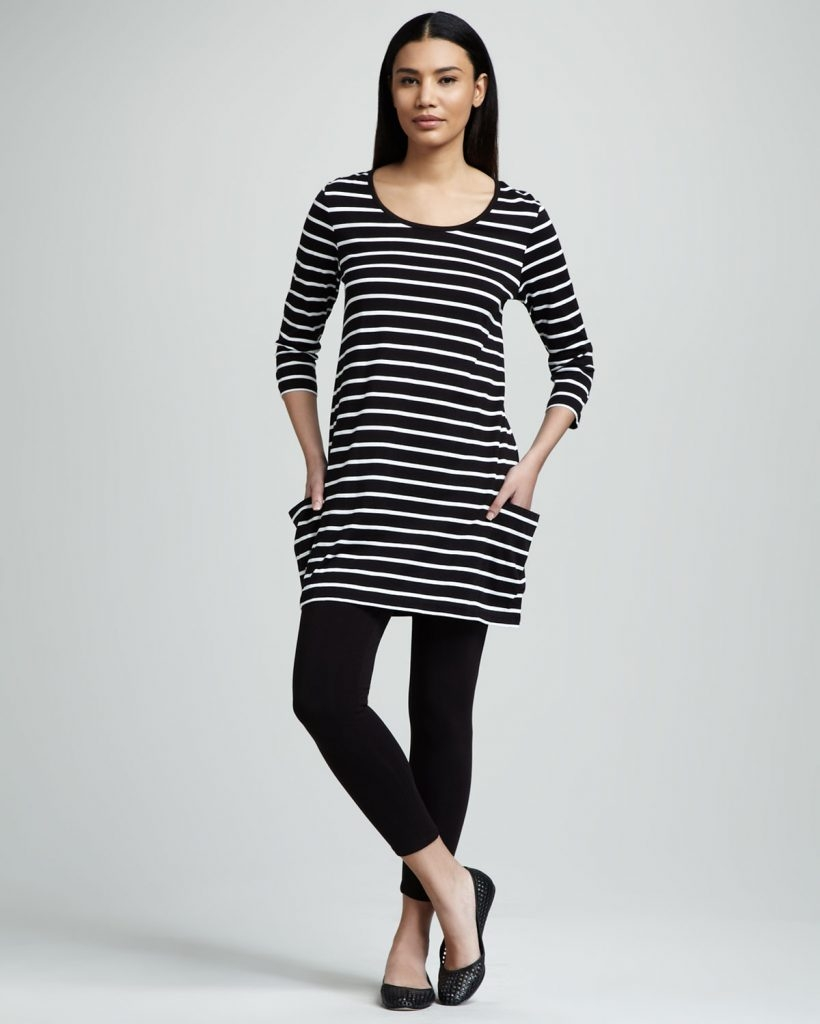 fatakat arjoan vass striped knit tunic stretch leggings