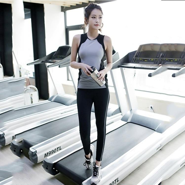 fitness women tank top female set vest bodybuilding