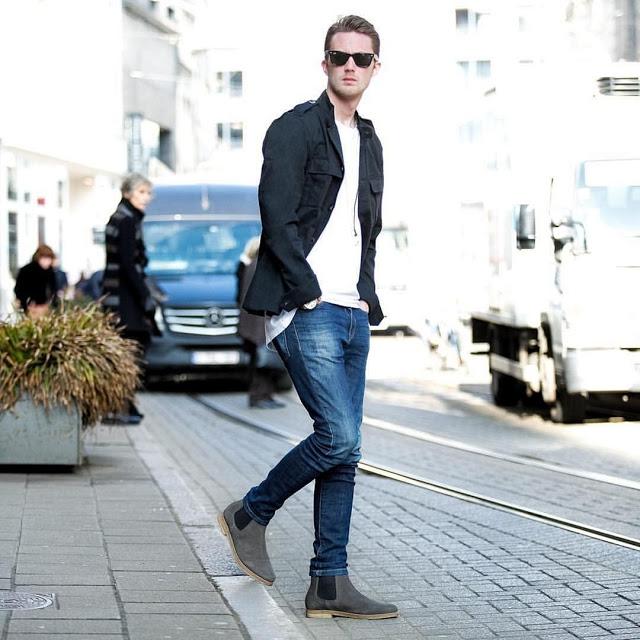 ide gaya berpakaian celana jeans pria untuk penmpilan yang