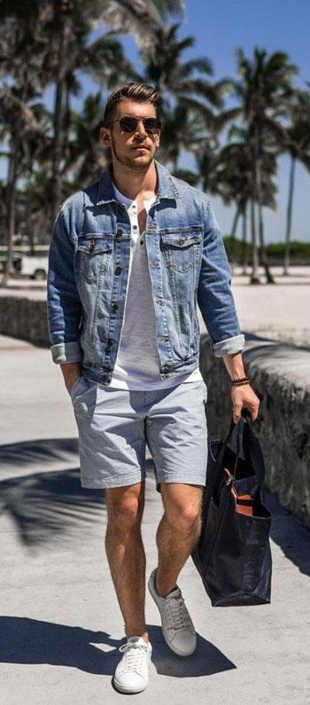 inspirasi outfit jaket jeans pria agar terlihat lebih