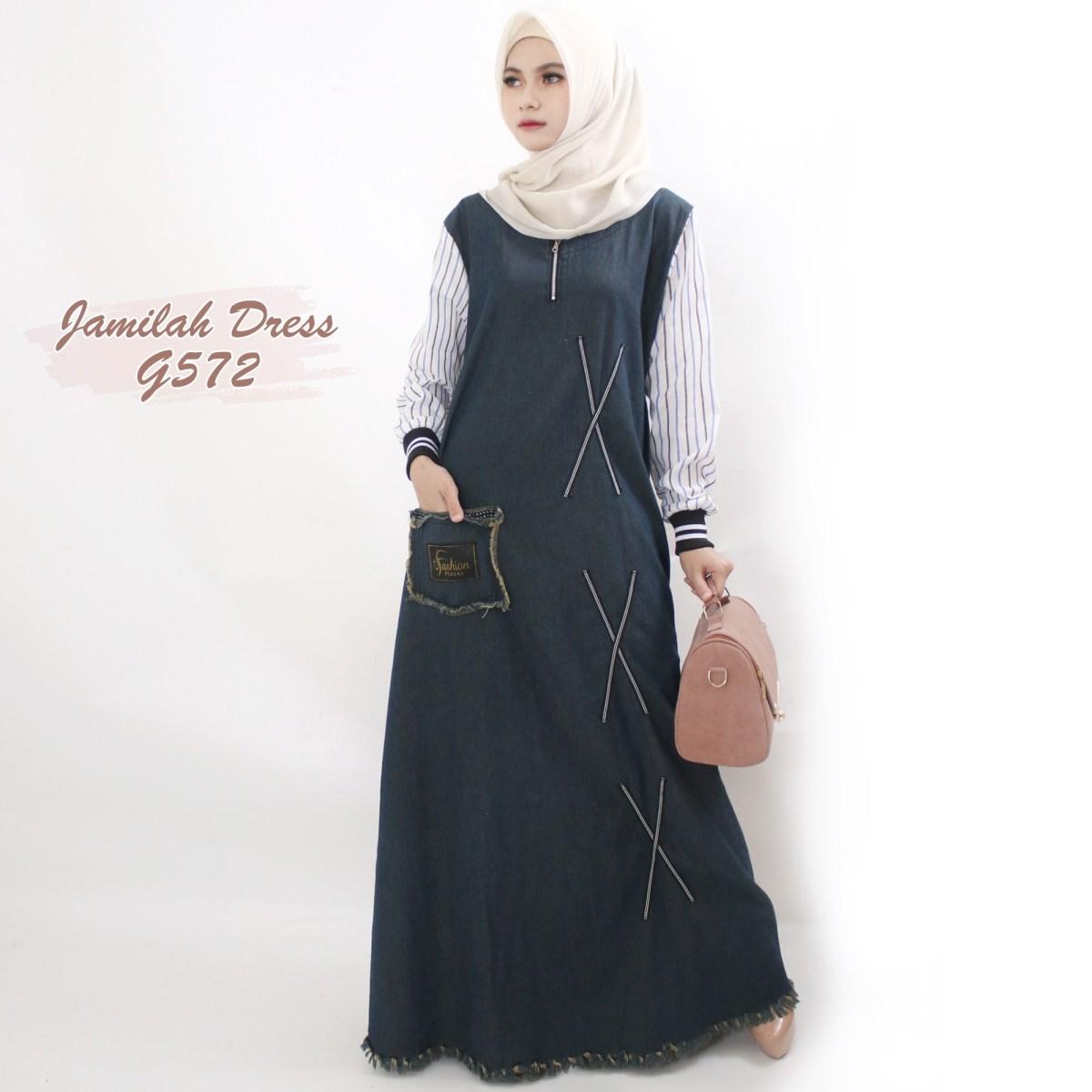 jamilah dress g572 baju hijab style ootd