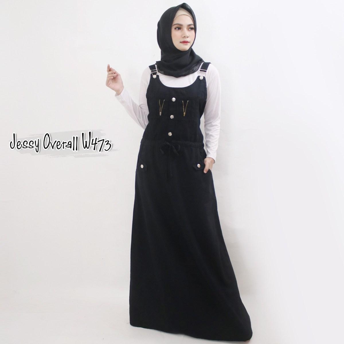 jessy overall w473 baju hijab style ootd