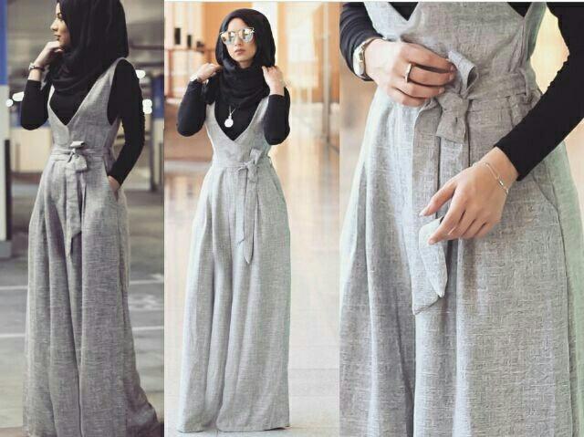 jumpsuit rok kodok setelan hijab modis model terbaru 1