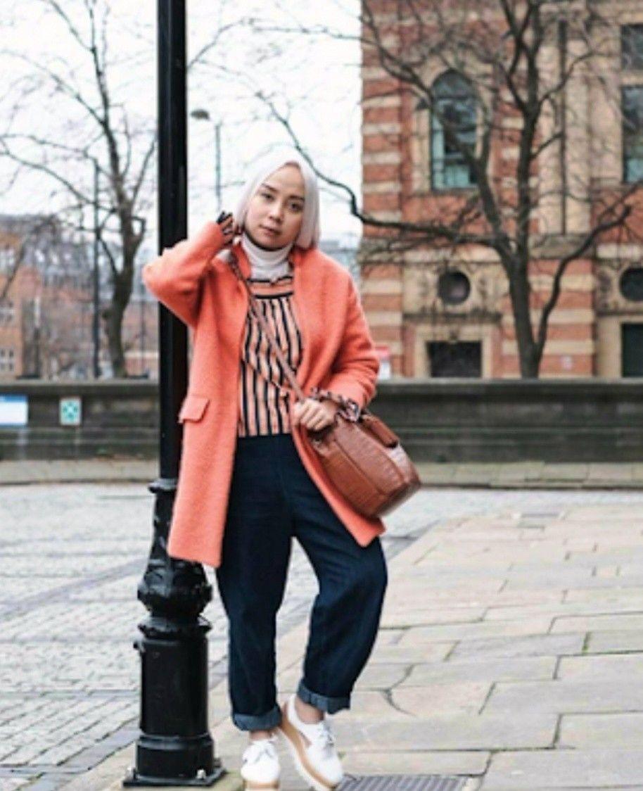 model baju hijab casual untuk wanita gemuk punya tubuh