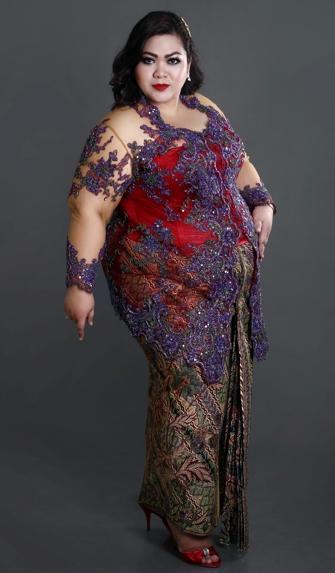model baju kebaya modern untuk wanita gemuk cara