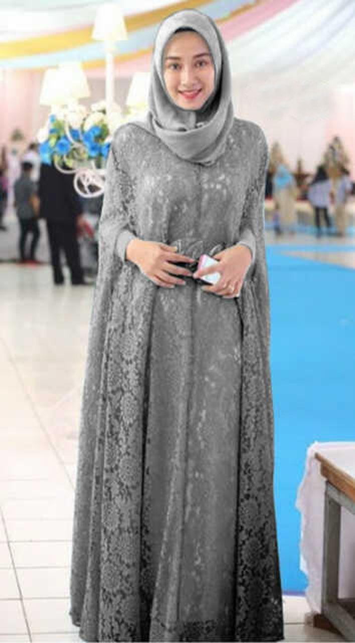 model baju lebaran untuk wanita muslim gemuk