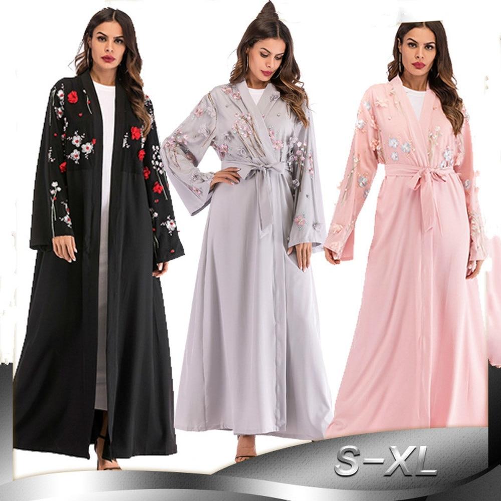 new abaya dubai kaftan arab women long floral muslim