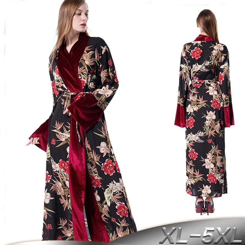plus size 20w abaya kimono kaftan bangladesh women velvet