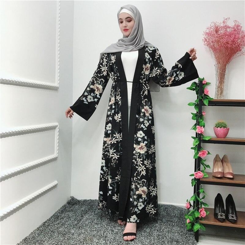 ramadan abaya kimono dubai qatar oman floral cardigan