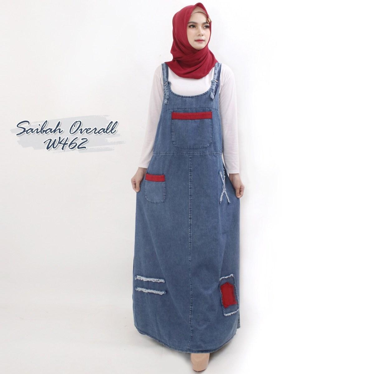 saibah overall w462 baju hijab style ootd