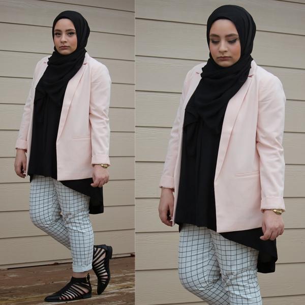 tips dan contoh model busana hijab untuk tubuh gemuk