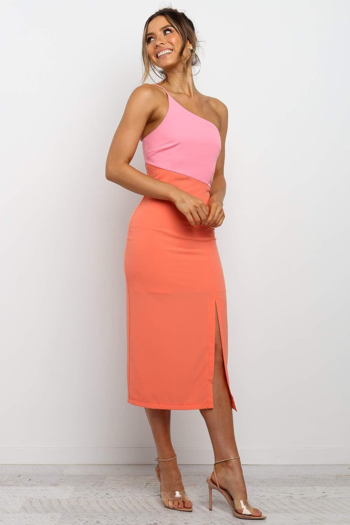 xiomar dress orange in 2020 dinner outfit classy