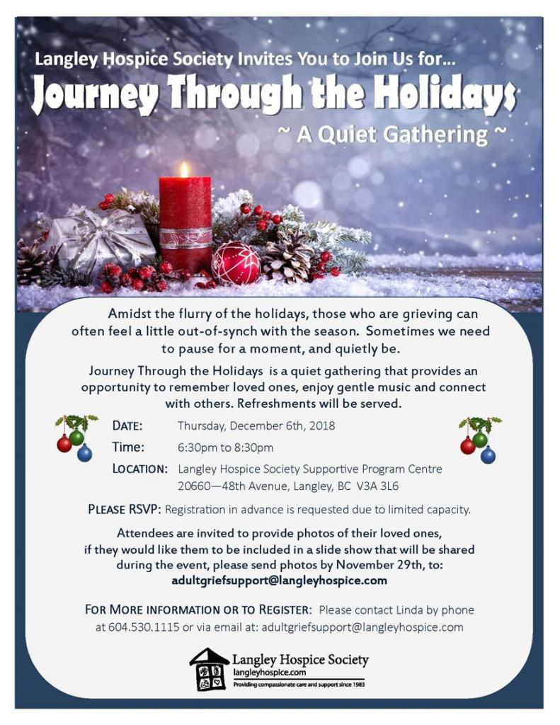 Journey through the holidays experience langley hospice